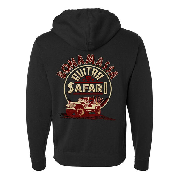 Guitar Safari Zip-Up Hoodie (Unisex) - Black
