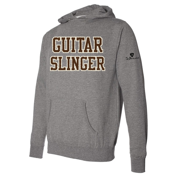 Guitar Slinger Applique Pullover Hoodie - Brown/Heather (Unisex)