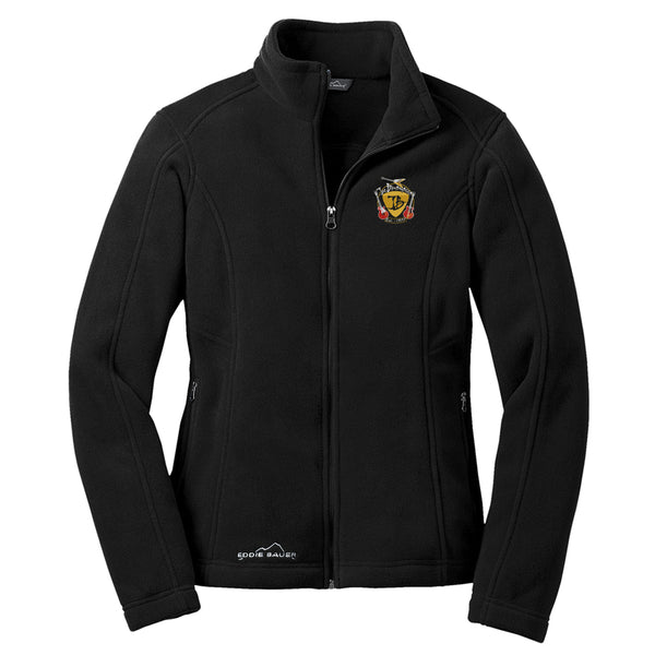 Guitar Trifecta Eddie Bauer Zip-Up Fleece Jacket (Women) - Black