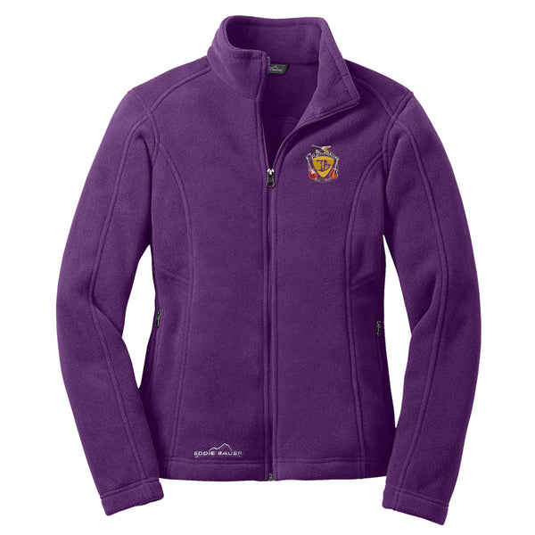 Guitar Trifecta Eddie Bauer Zip-Up Fleece Jacket (Women) - Blackberry