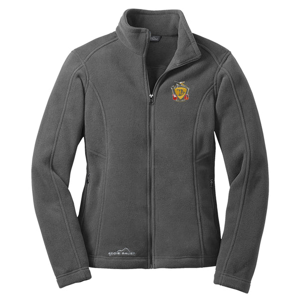 Guitar Trifecta Eddie Bauer Zip-Up Fleece Jacket (Women) - Grey