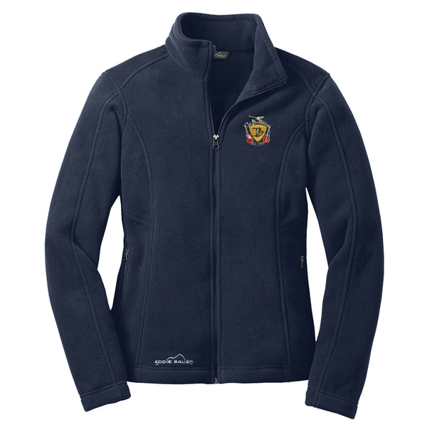 Guitar Trifecta Eddie Bauer Zip-Up Fleece Jacket (Women) - Navy