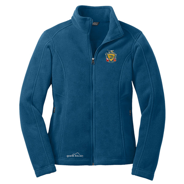 Guitar Trifecta Eddie Bauer Zip-Up Fleece Jacket (Women) - Sea