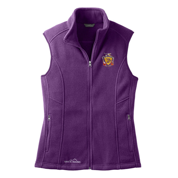 Guitar Trifecta Eddie Bauer Fleece Vest (Women) - Blackberry