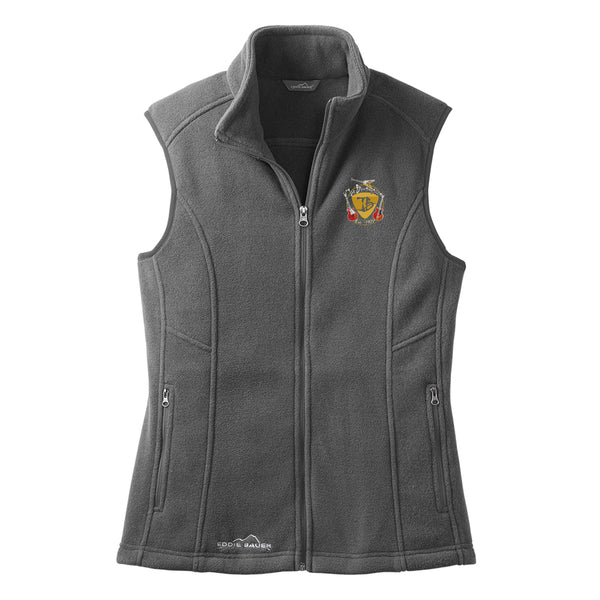 Guitar Trifecta Eddie Bauer Fleece Vest (Women) - Grey