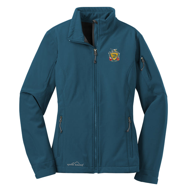 Guitar Trifecta Eddie Bauer Soft Shell Jacket (Women) - Adriatic