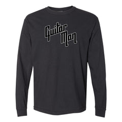 Guitar Man Logo Comfort Colors Long Sleeve T-Shirt (Men) - Black