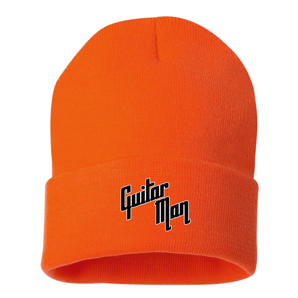 "Guitar Man Logo 12"" Cuffed Beanie - Orange"