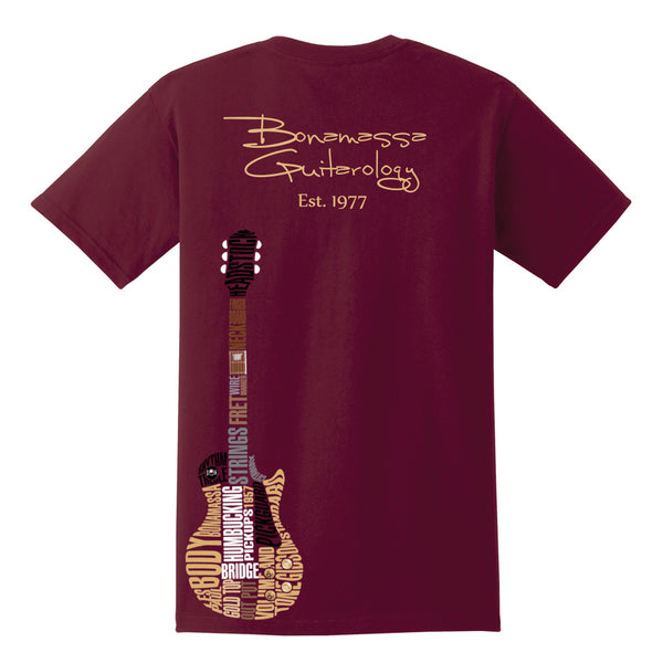 Guitarology Pocket T-Shirt (Unisex) - Maroon