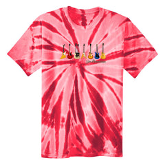 JB Guitars Tie Dye T-Shirt (Unisex) -Red