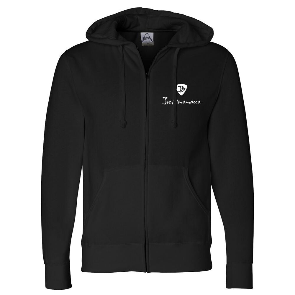 Heavy Gauge Zip-Up Hoodie (Unisex) - Black