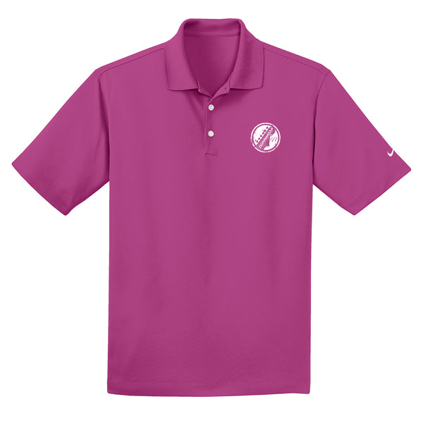 Vintage Headstock Nike Dri-FIT Micro Pique Polo (Men) - Fusion Pink