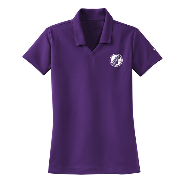 Vintage Headstock Nike Dri-FIT Micro Pique Polo (Women) - Night Purple