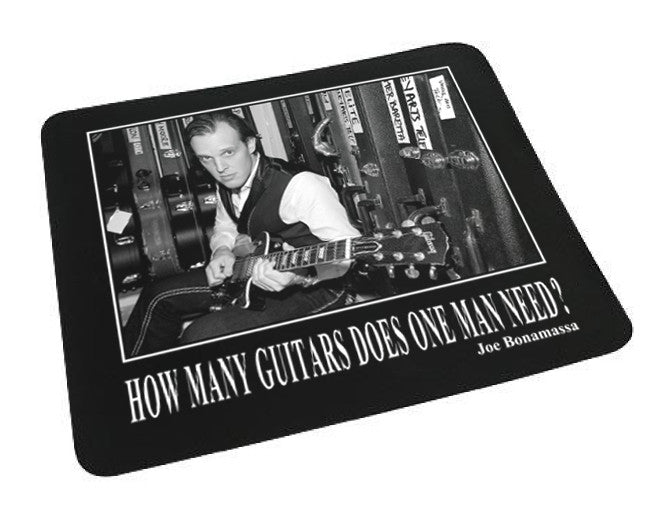 How Many Guitars Does One Man Need - Mouse Pad
