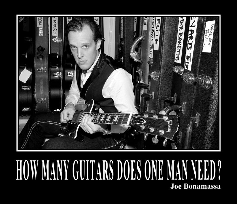 How Many Guitars Does One Man Need - Poster