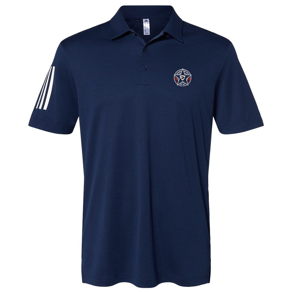 Honorable Blues Adidas Floating 3 Stripes Sport Shirt (Men) - Navy