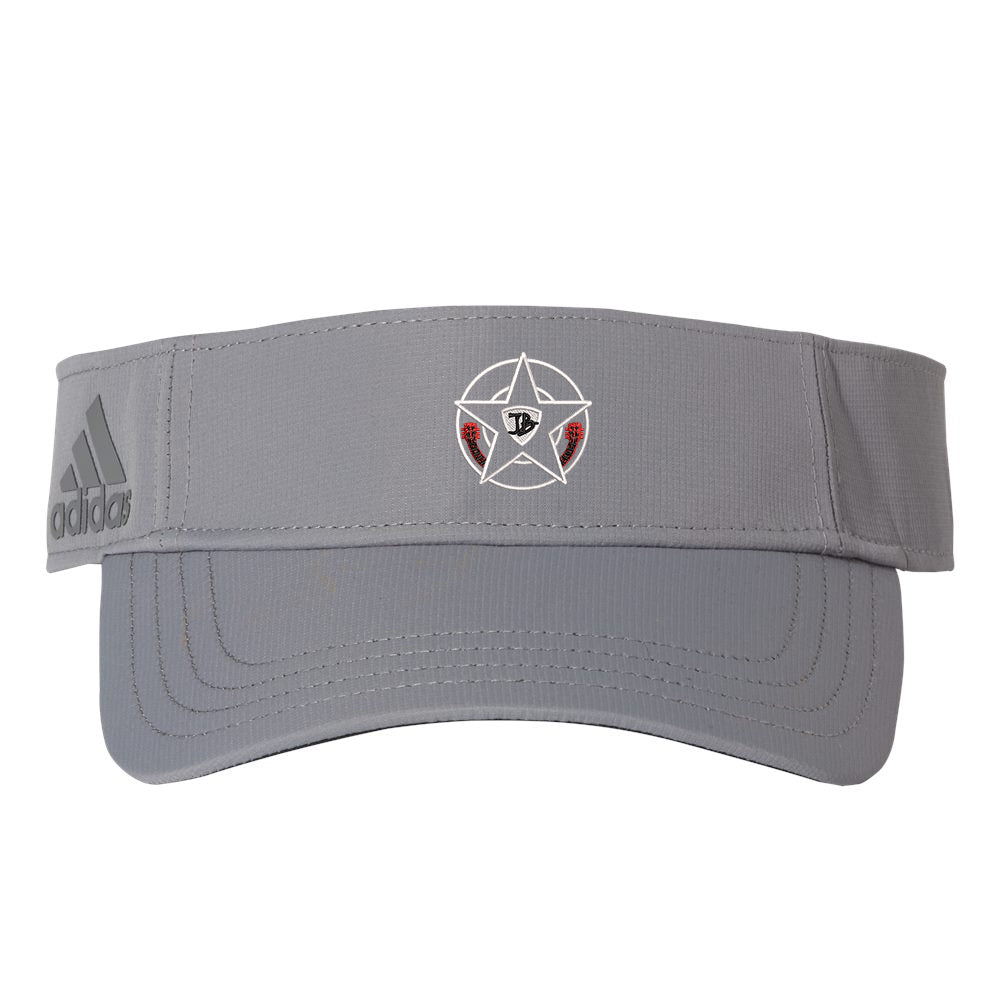 Honorable Blues Adidas Poly Textured Visor - Grey