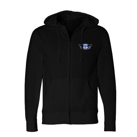 """This Train"" Zip-Up Hoodie (Unisex) - Black"