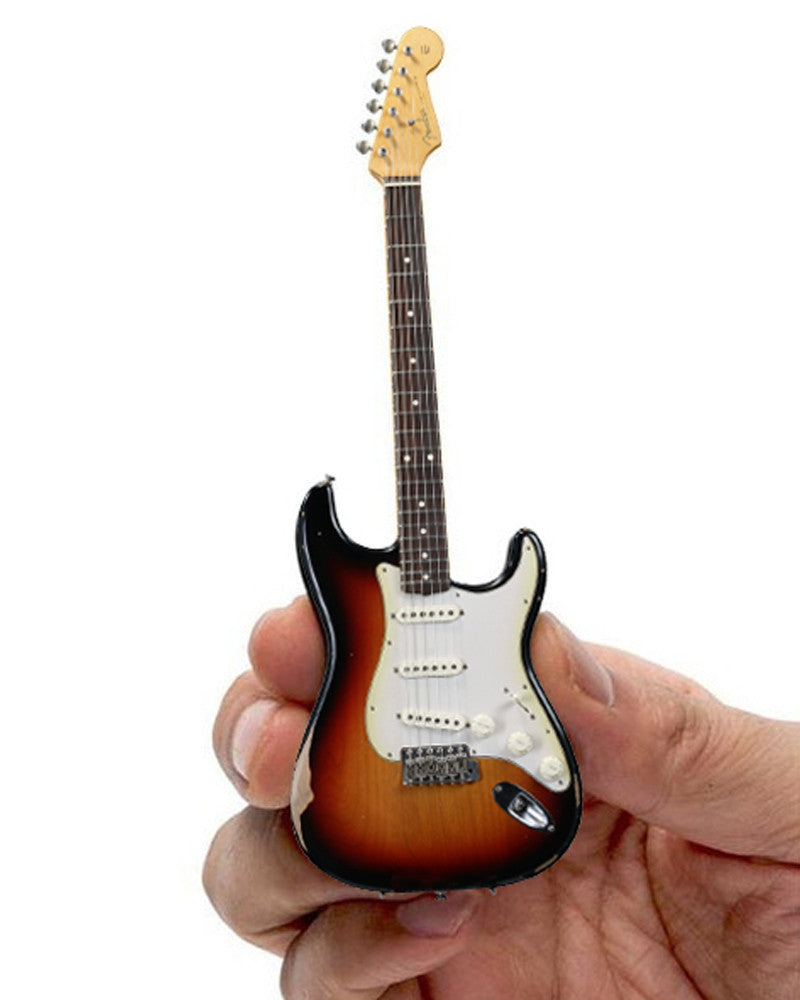 Axe Heaven Miniature Sunburst Road Worn Fender Strat
