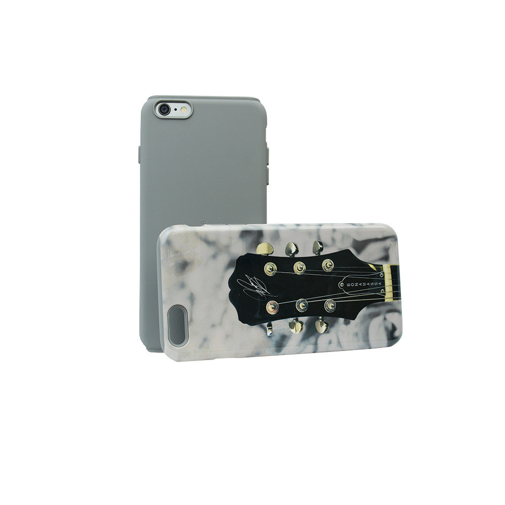 Guitar Headstock Phone Case - iPhone 6 Plus (Grey Bumper)