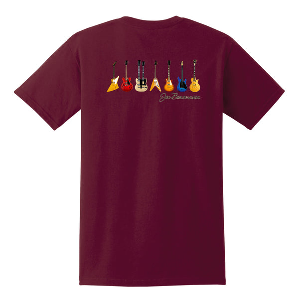 JB Guitars Pocket T-Shirt (Unisex) - Maroon