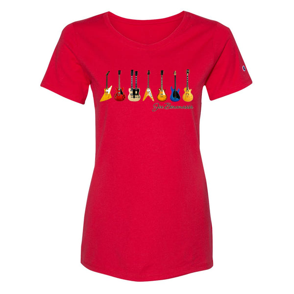 JB Guitars Champion Short Sleeve T-Shirt (Women) - Red