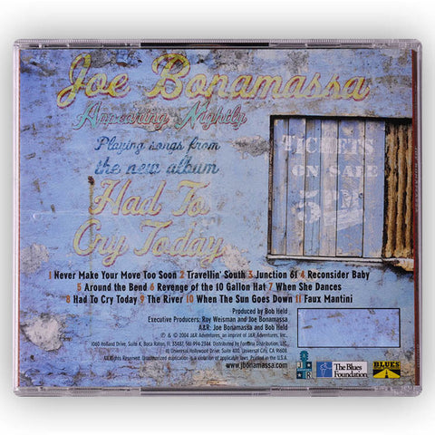 Joe Bonamassa: Had To Cry Today (Studio CD) (Released: 2004)