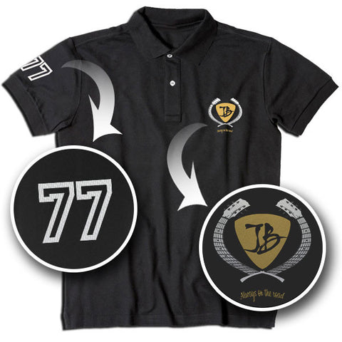 JB Embroidered Pick Crest Polo (Black)