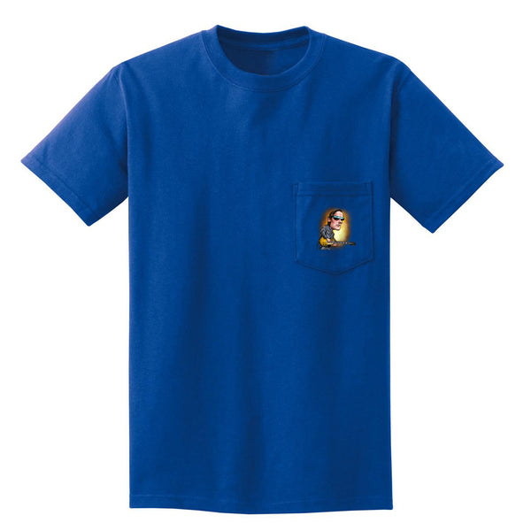 Joe Bonamassa & Skinnerburst Cartoon Pocket T-Shirt (Unisex) - Royal