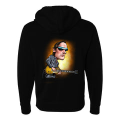 Joe Bonamassa & Skinnerburst Cartoon - Zip-Up Hoodie (Unisex) - Black