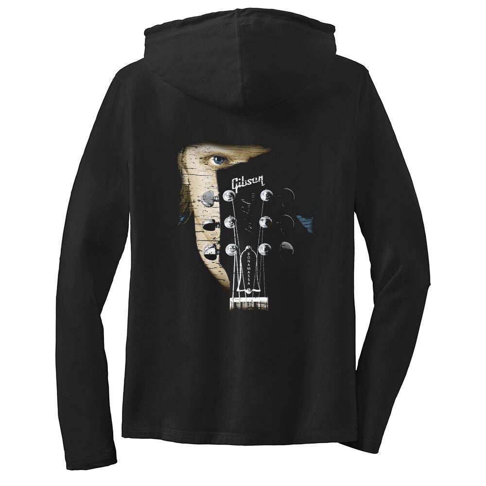 Joe Bonamassa Face Hooded Long Sleeve (Women)