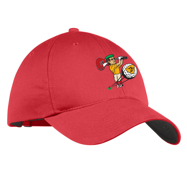 Nerdville Golf Nike Hat - Red
