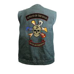 Blues Brotherhood Back Patch - Blue Denim Club Vest (Men)