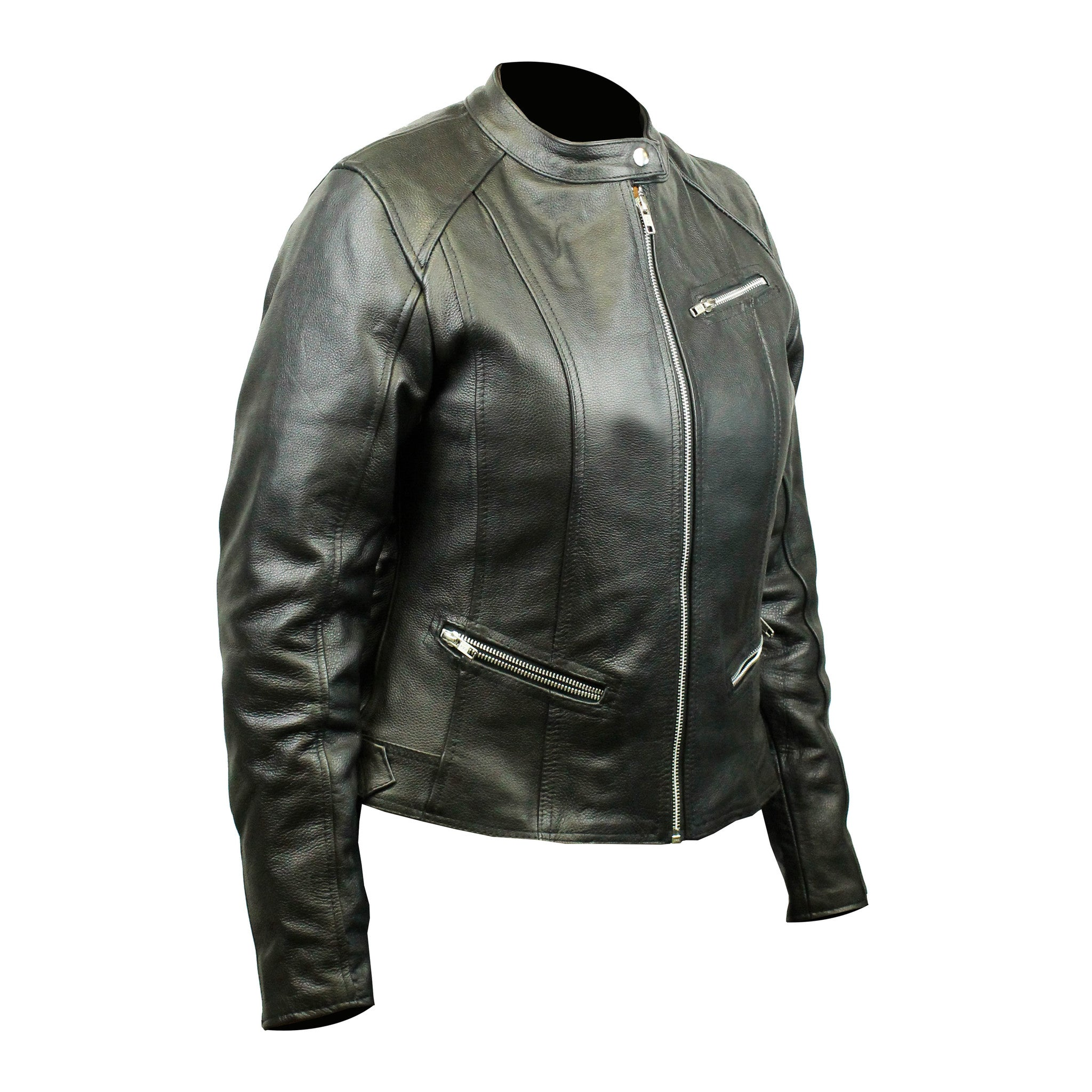 Highway to Blues Back Patch - Top Grain 3 Pocket Leather Jacket (Women)
