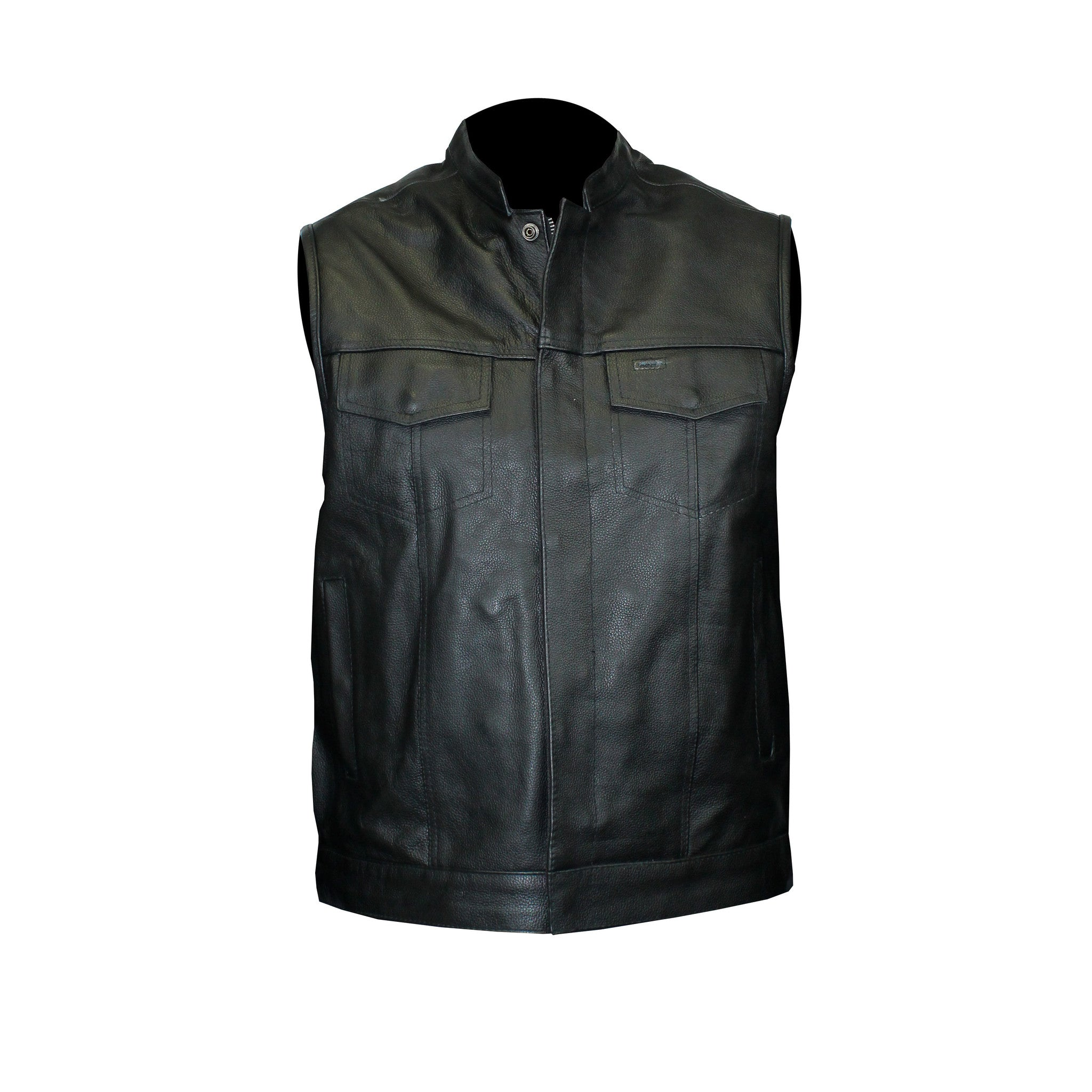 Motorcycle Club Leather Vest (Men)