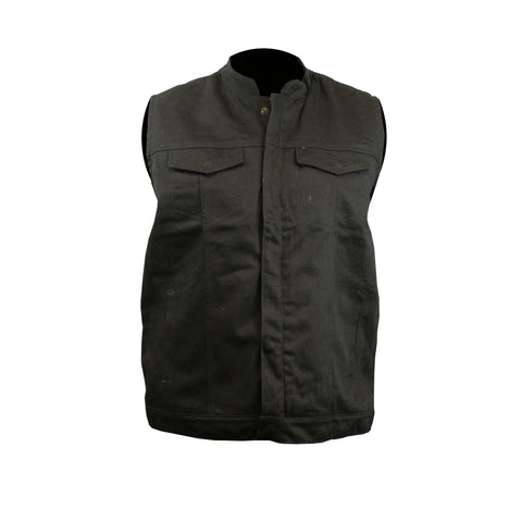 Highway to Blues Back Patch - Black Denim Club Vest (Men)