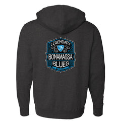 Lengendary Blues Zip-Up Hoodie (Unisex) - Charcoal Heather