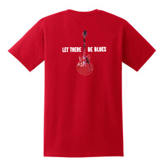 Let There Be Blues Pocket T-Shirt (Unisex) - Red