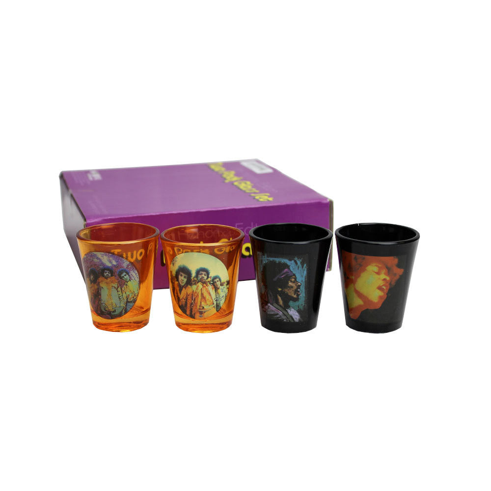 Jimi Hendrix -  Poses Shot Glasses