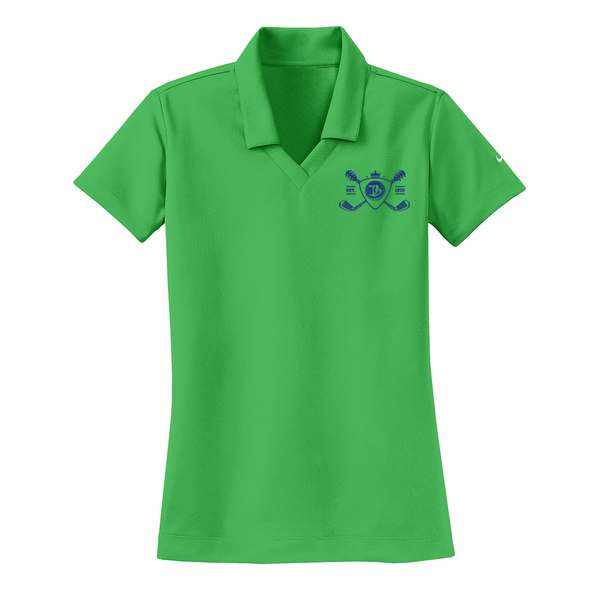 Blues Bogey Nike Dri-FIT Micro Pique Polo (Women) - Lucky Green