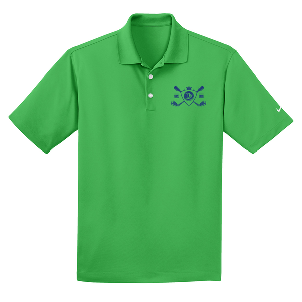 Blues Bogey Nike Dri-FIT Micro Pique Polo (Men) - Lucky Green