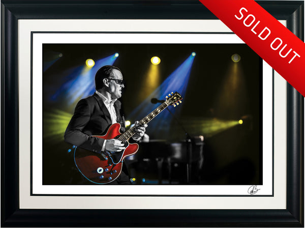 "#28 ""Dial It Up "" JOE BONAMASSA Collectible Litho (FRAMED - USA ONLY)"