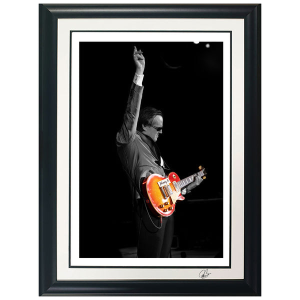 "#36 ""Johnny B"" JOE BONAMASSA Collectible Litho (FRAMED - USA ONLY)"