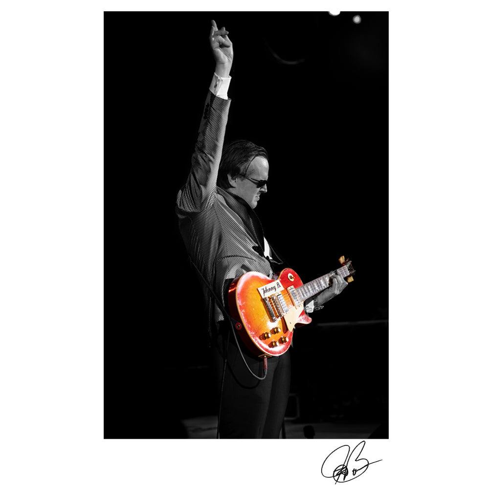"#36 ""Johnny B"" JOE BONAMASSA Collectible Litho (UNFRAMED - INTERNATIONAL ONLY)"