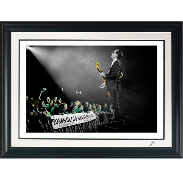 "#38 ""Bonaholics"" JOE BONAMASSA Collectible Litho (FRAMED - USA ONLY)"