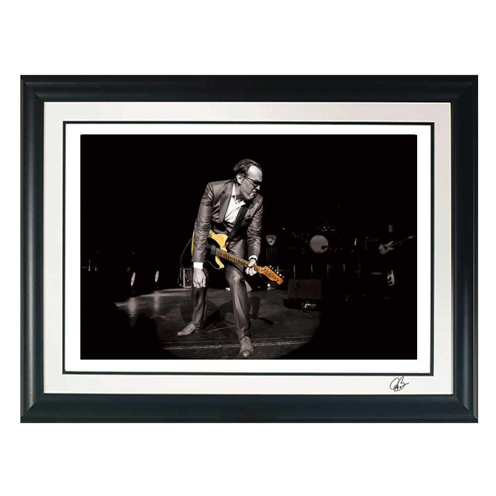 "#32 ""Danny's Pick"" JOE BONAMASSA Collectible Litho (FRAMED - USA ONLY)"