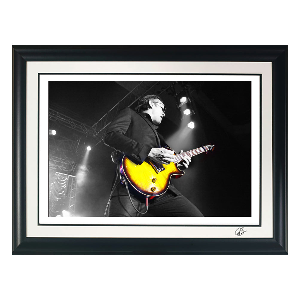 "#33 ""Blues Thunder"" JOE BONAMASSA Collectible Litho (FRAMED - USA ONLY)"