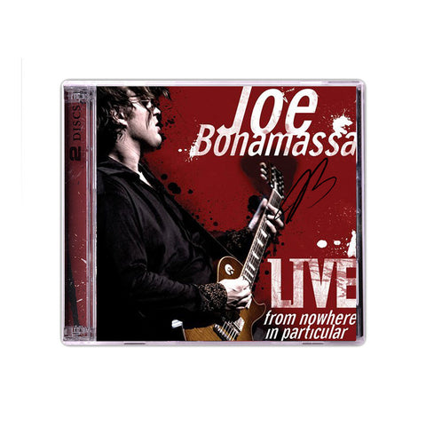 Joe Bonamassa: Live From Nowhere In Particular (Double CD) (Released: 2008) - Hand-Signed