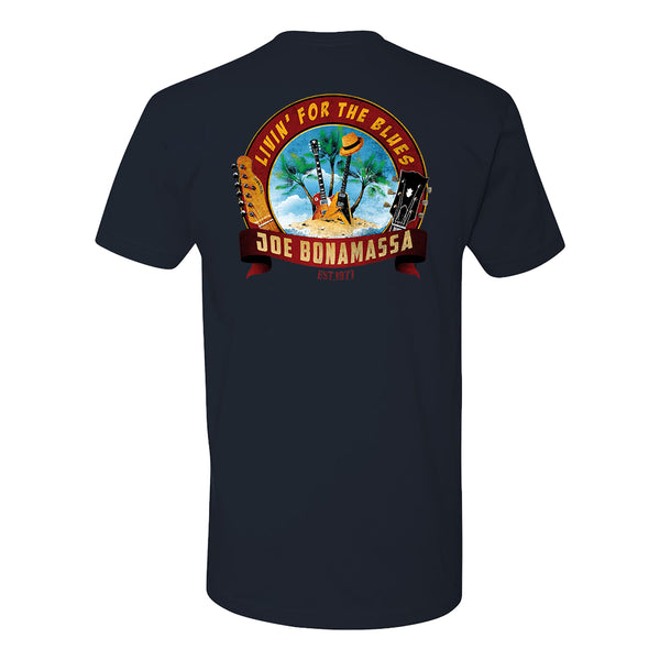 Livin' for the Blues LC T-Shirt (Unisex) - Navy