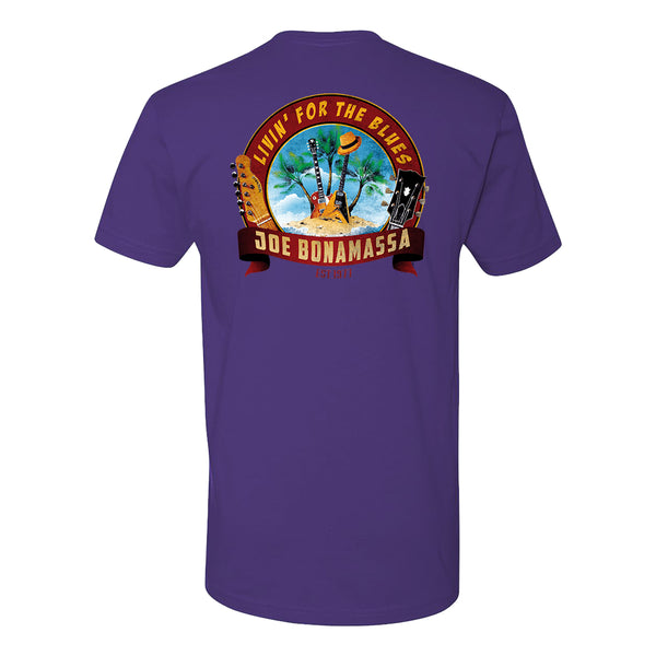 Livin' for the Blues LC T-Shirt (Unisex) - Purple